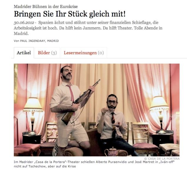 Imagen del reportaje del Frankfurten Allgemeine